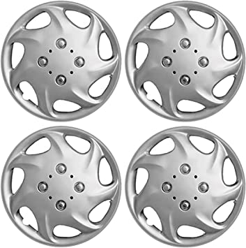 "4 PIECES Set Hub Cap ABS Silver 15/"" Inch Rim Wheel Cover Hubcaps Caps Covers"