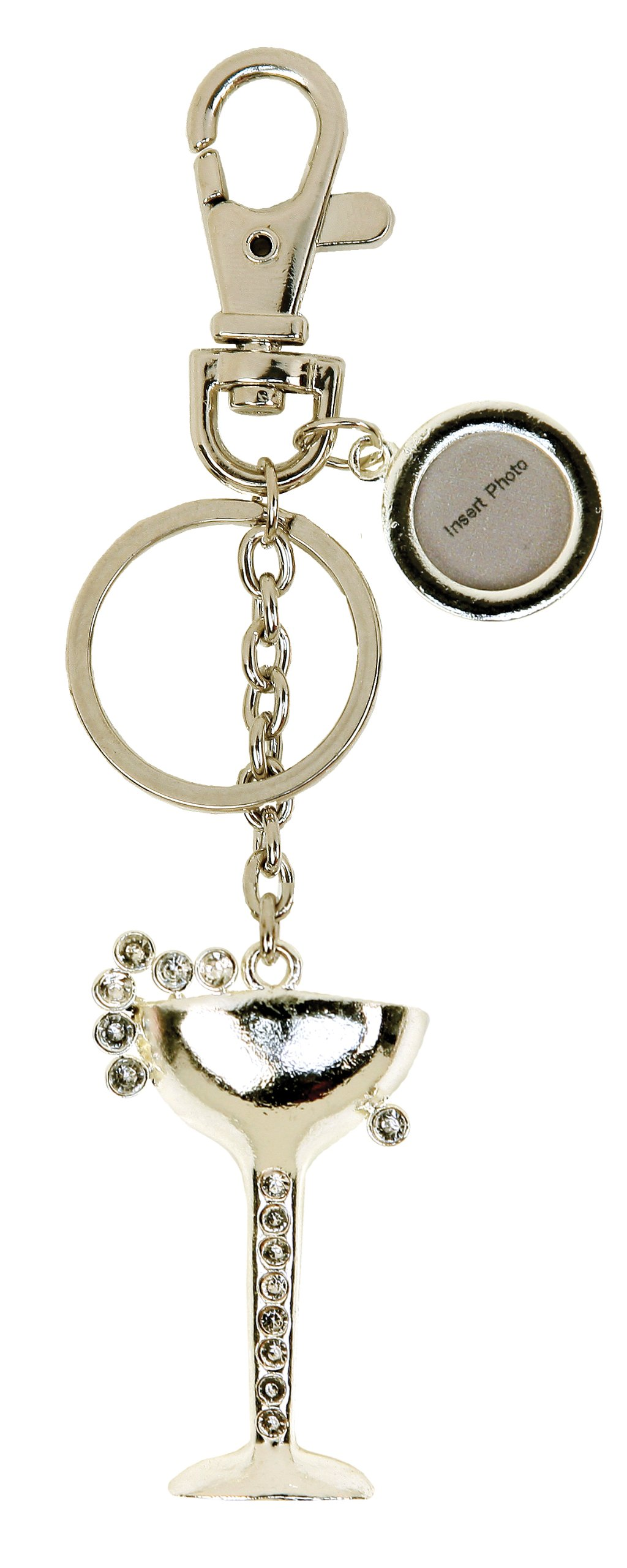 C.R. Gibson Toasting Glass Keychain/Purse Charm