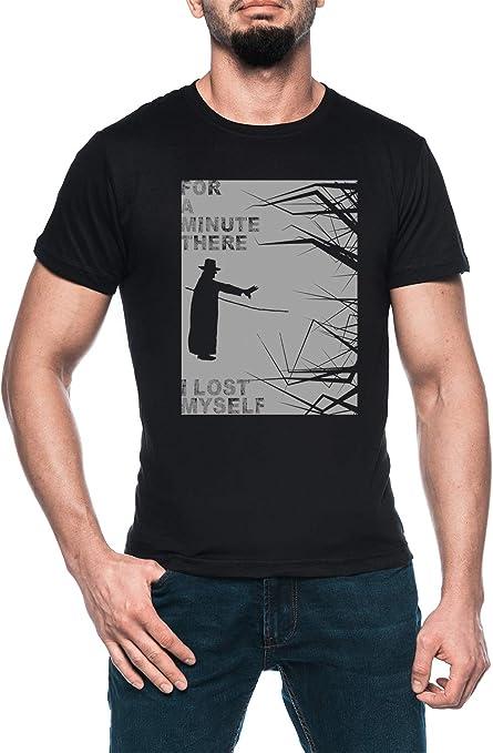 Los Karma Policía Hombre Negro Camiseta Manga Corta Mens Black T-Shirt: Amazon.es: Ropa y accesorios