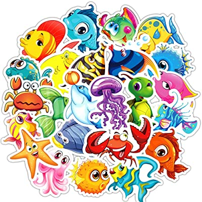 Cute Cartoon Animals Graffiti Stickers Pack,100 Piece Non-repetitive Decals,Waterproof,Non-fading,Long Lifetime,Ideal Picture For Your Water Bottle,iPhone,Laptop,Bike,Guitar and More.Show Your own Sty: Computers & Accessories