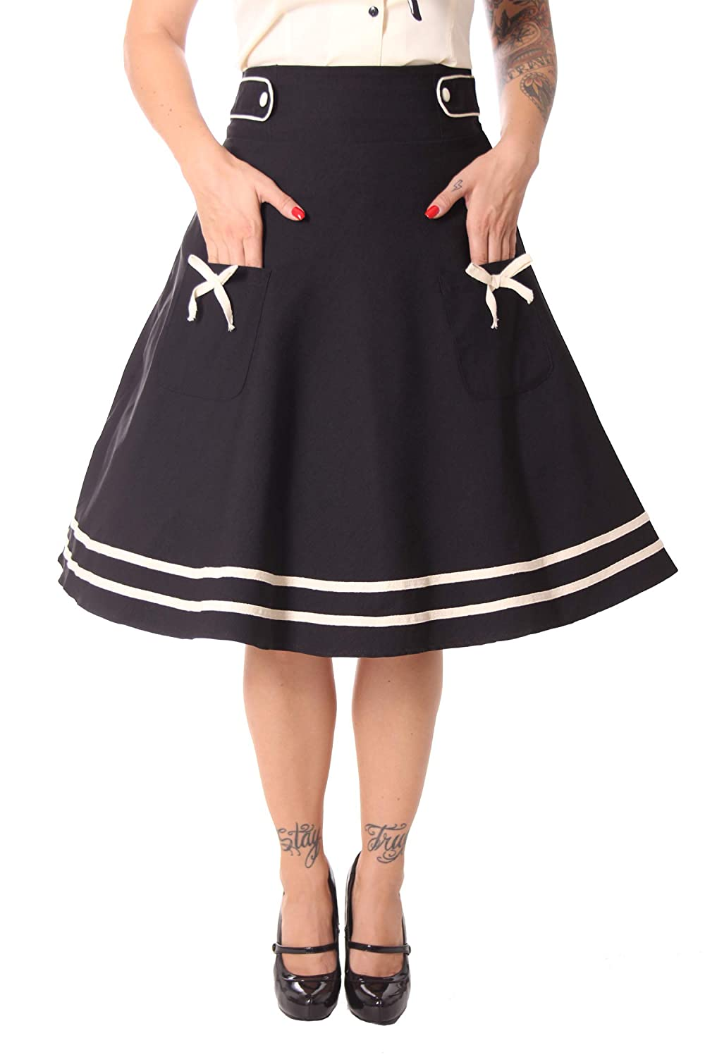 SugarShock SugarShock SugarShock Damen Petticoat Rock Oletta Sailor B07JM1JPN7 Röcke Britisches Temperament 96c130