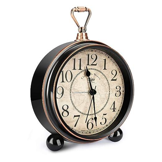 Welltop Despertador Retro para Sala de Estar Mesa Escritorio ...