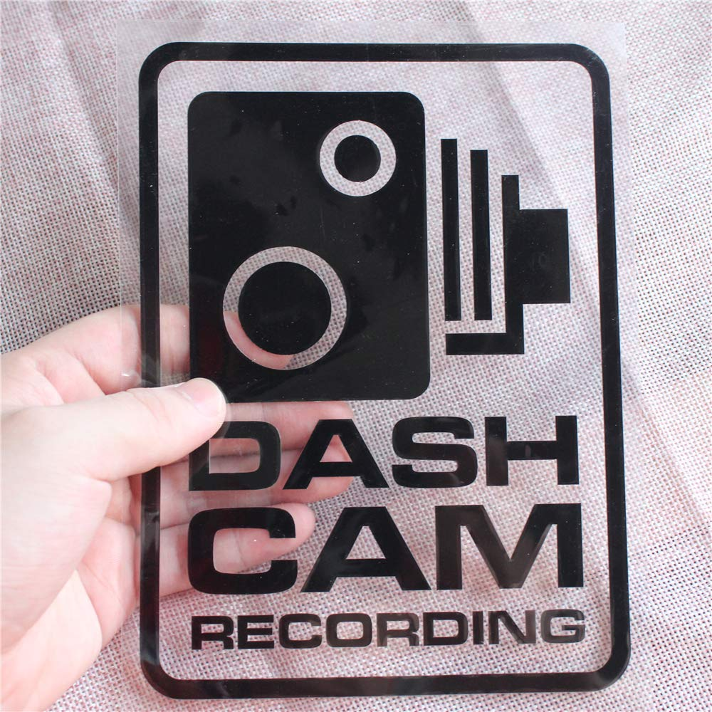 2PCS Large Size New Universal Dash Cam Recording Car Warning Sticker Styling Window Decals Decoration for BMW Audi VW Ford Toyota Honda Mazda Volvo Buick