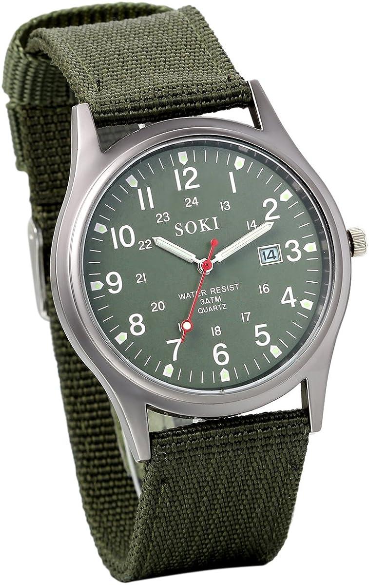 Avaner - Reloj de pulsera para hombre y mujer, cuarzo, analógico, reloj para jóvenes, parejas, enamorados, correa de nailon y piel