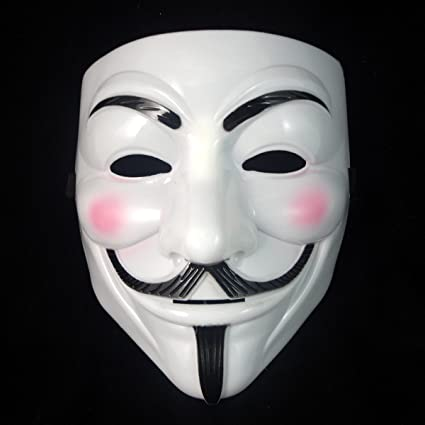 Theme My Party V For Vendetta Comic Face Mask Anonymous Guy Fawkes White