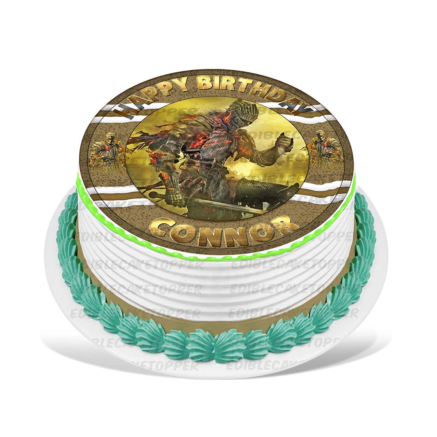 Amazon.com : PartyPrint Dark Souls Edible Cake Topper ...