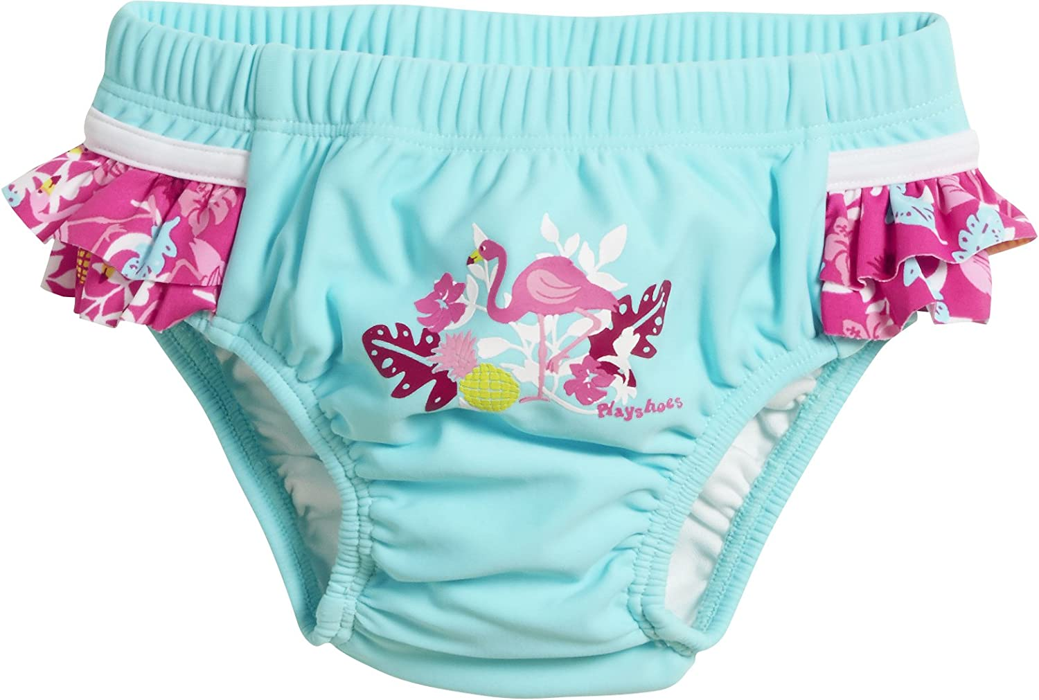 Playshoes Baby Girls' UV Protection Diaper Pants Flamingo Swim Nappie 461200