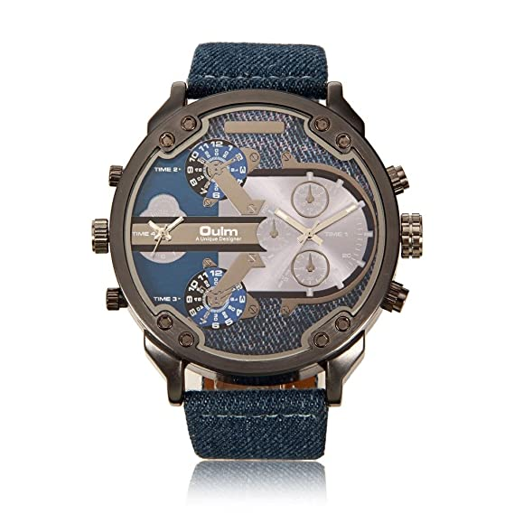 88c4b0f1b89 Image Unavailable. Image not available for. Color  Luxury oulm Brand  Military Watches ...