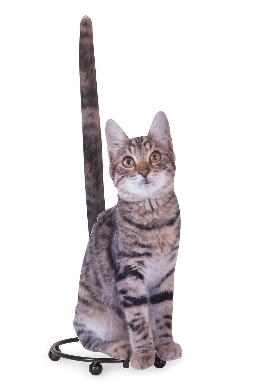 Tiger Striped - Soporte de papel toalla de papel o papel higiénico dispensador de gato: Amazon.es: Hogar