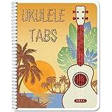 "BookFactory Ukulele Tablature Notebook/Ukulele Music Tab Journal - 120 Pages, Wire-O, 8 1/2 x 11"" Tablature Format (JOU-120-7"