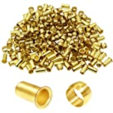Joywayus Compression Sleeve Ferrules 4mm OD 2.9mm ID Brass Compression Fitting and Insert Tube Ferrule Kit(Pack of 60)