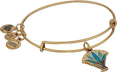 Amazoncom Alex And Ani Womens Blue Lotus Bangle Rafaelian Gold