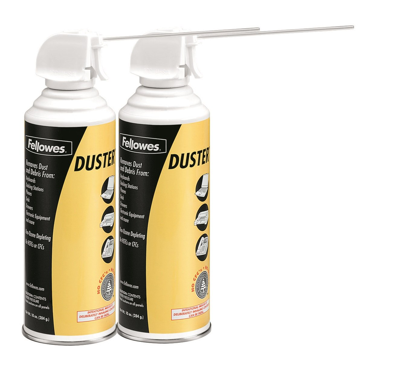 Fellowes Compressed Air Duster Cleaning Spray, 152A, 10oz, 2-Pack (9963201) by Fellowes