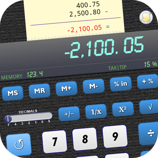 Discount Paper - Calculator with Undo & History (Ad