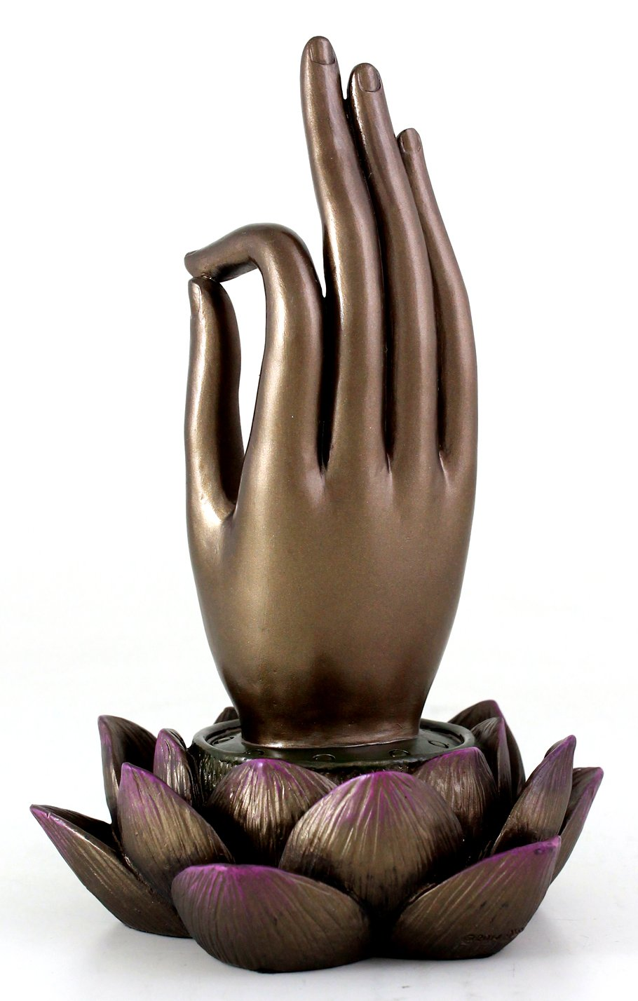 Top Collection Buddha Hand and Lotus Flower Vitarka Mudra Incense Holder Incense Burner by Top Collection (Image #3)