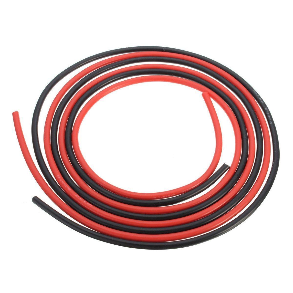 Silikon Draht - TOOGOO(R)12 AWG 10 Ft (3m) Spur Silikon Kabel ...