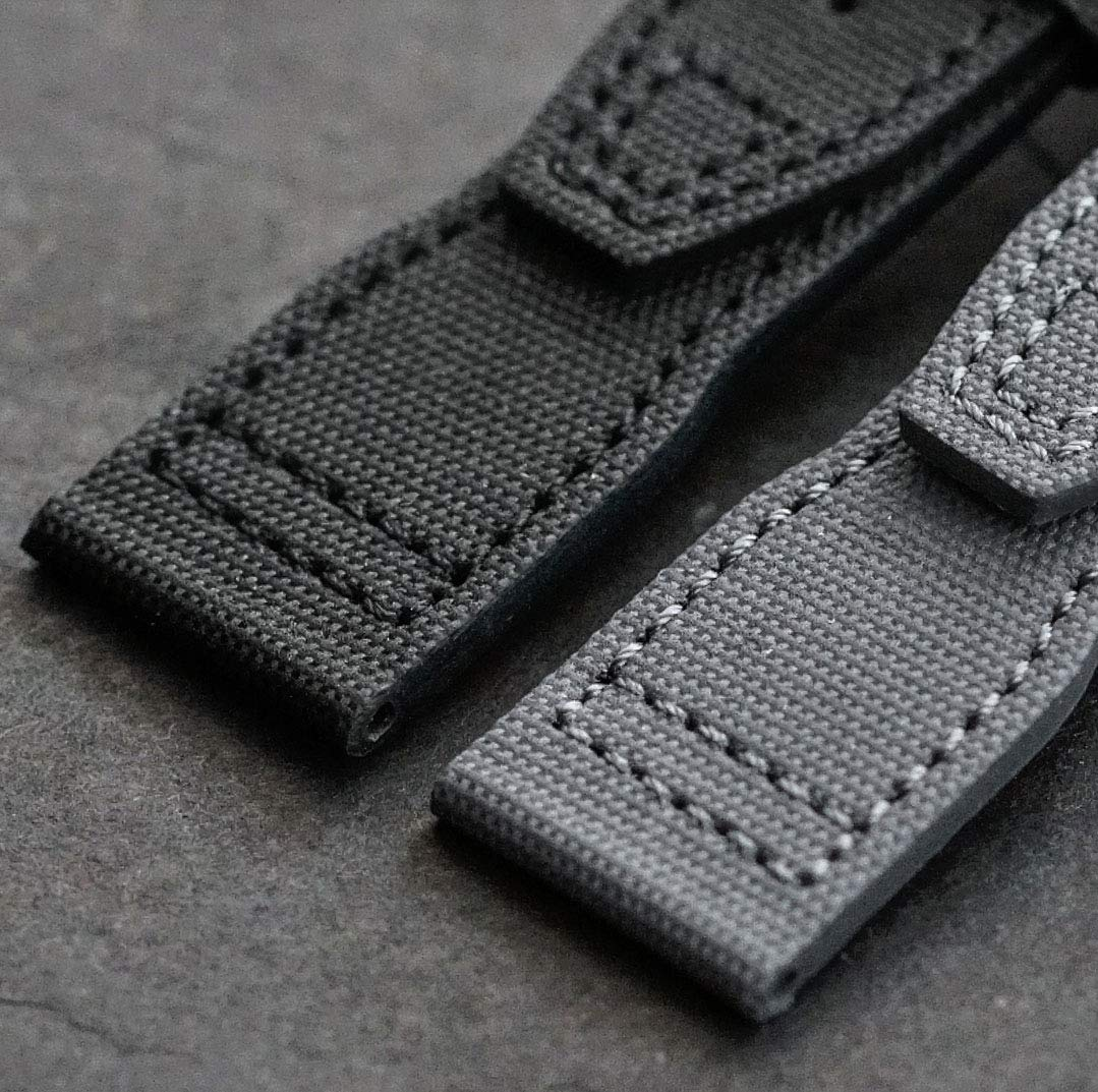 B & R Bands 21mm Black Tactical IWC Pilot Style Watch Band Strap by B and R Bands (Image #2)