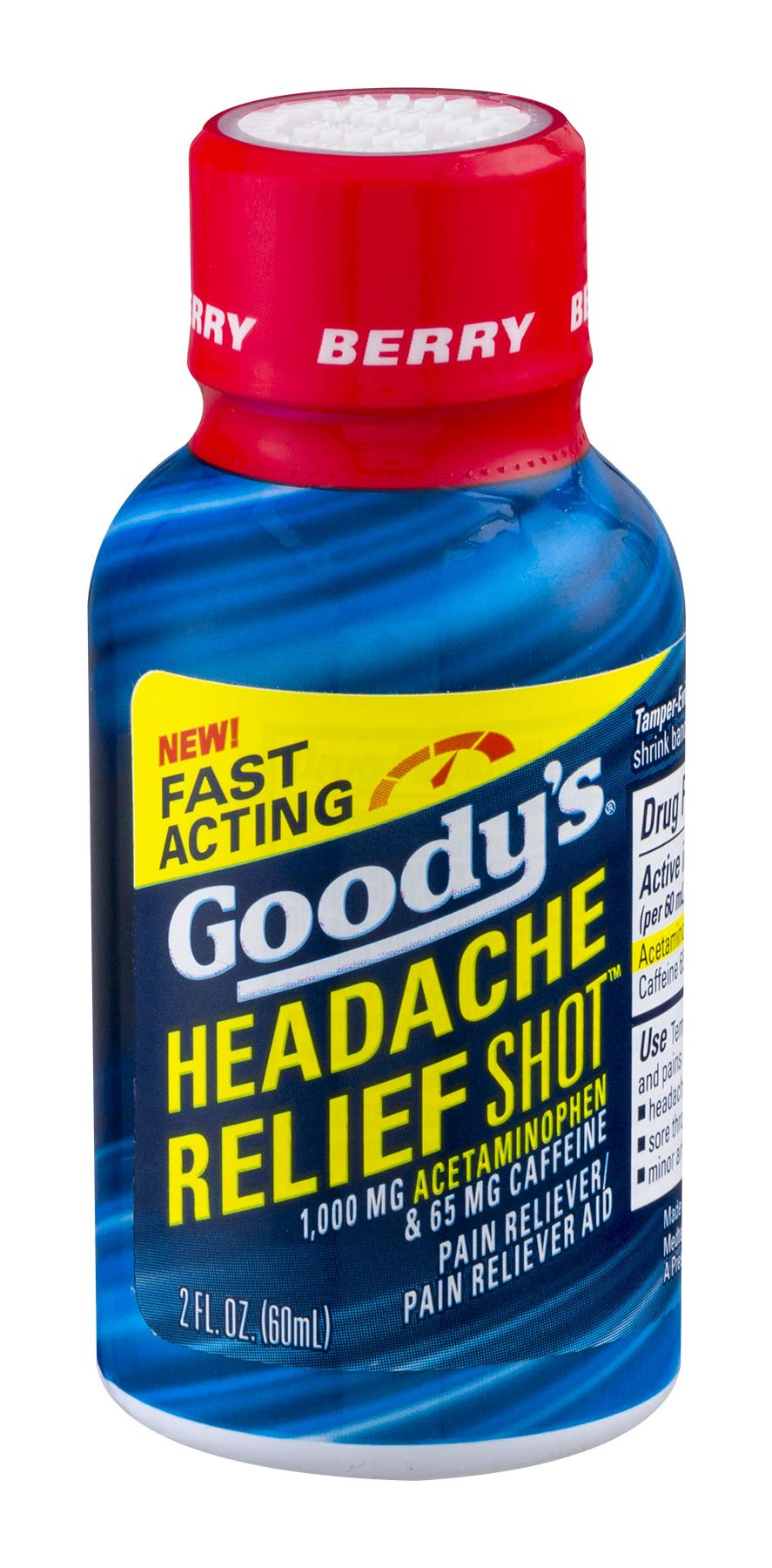 Goody's Headache Relief Shots | Berry Flavor | 9 Shots | 2 oz per Shot | Fast Liquid Action for Long Lasting Relief by Goody's