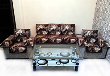 Buy EUCALYPTO CHENILLE BROWN SOFA SLIPCOVER SET WITH 6 ARMS COVER