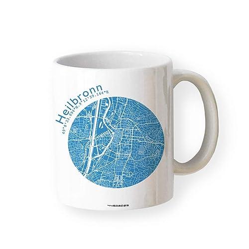 Heilbronn Karte Stadtplan.Tasse Heilbronn Stadtplan Karte Landkarte In 5 Farben