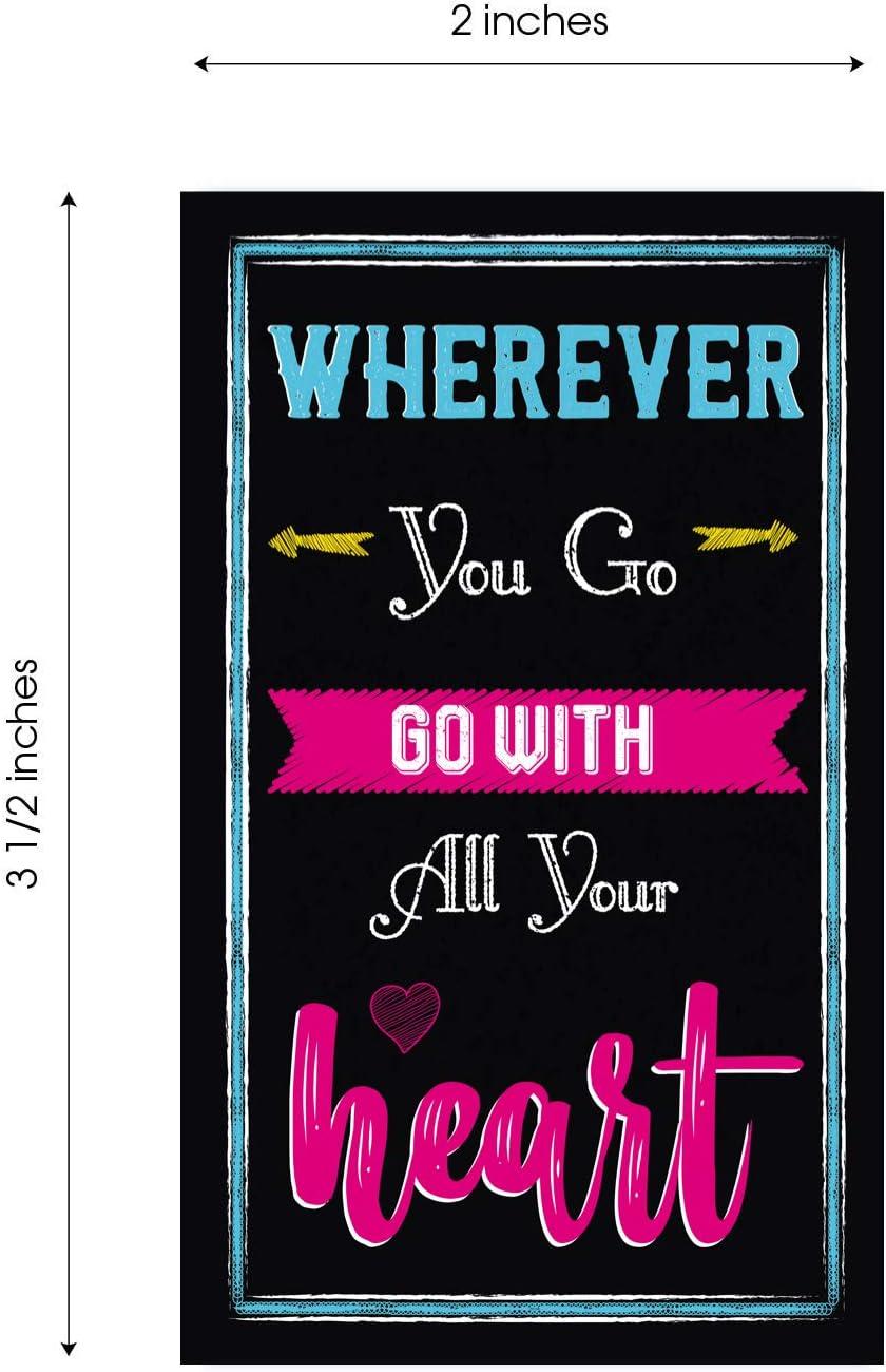 Motivational Quote Cards Mindfulness /& Affirmation Business Card Size 2 x 3.5 Set of 40 Notecards for Motivation Kindness Encouragement