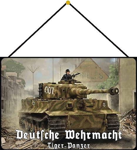 Blechschild Retro Wehrmacht Tiger Panzer 007 Metallschild Deko 20x30 tin sign