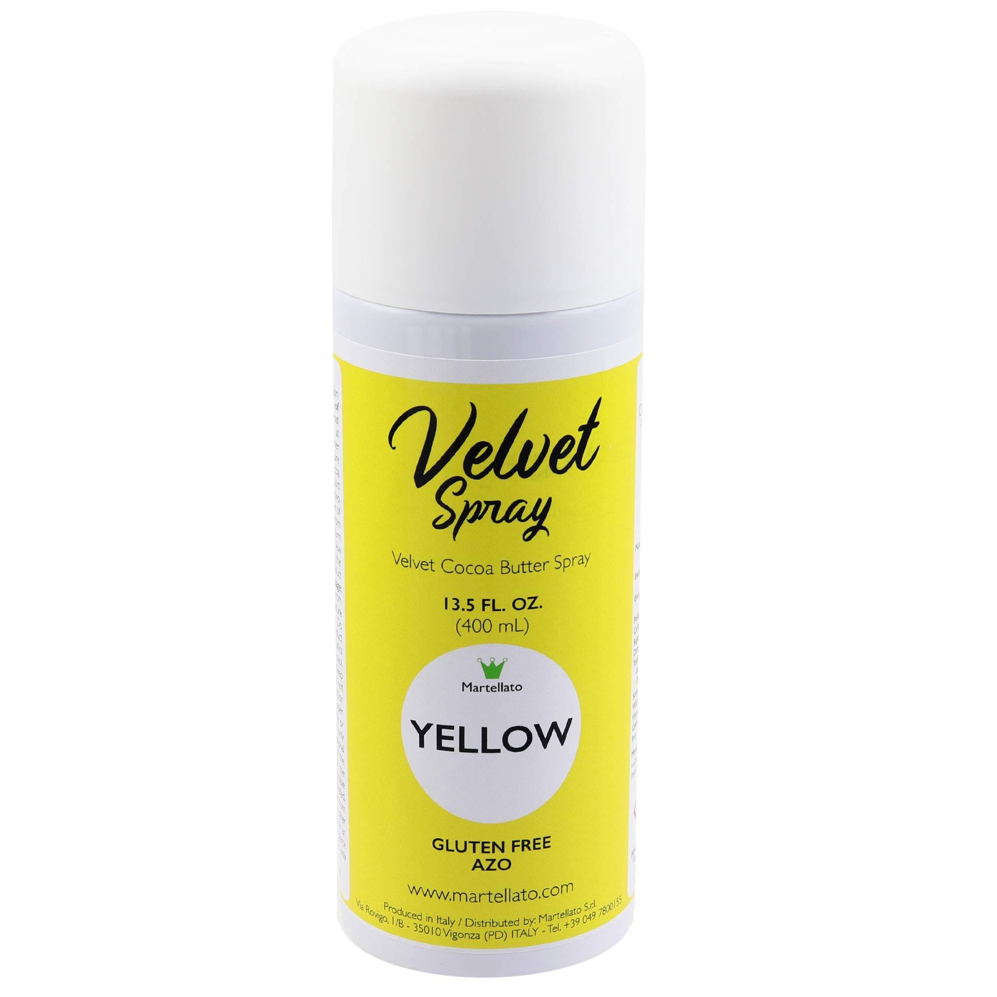 Martellato Yellow Velvet Spray 13.5 Ounce (400ml) by Martellato