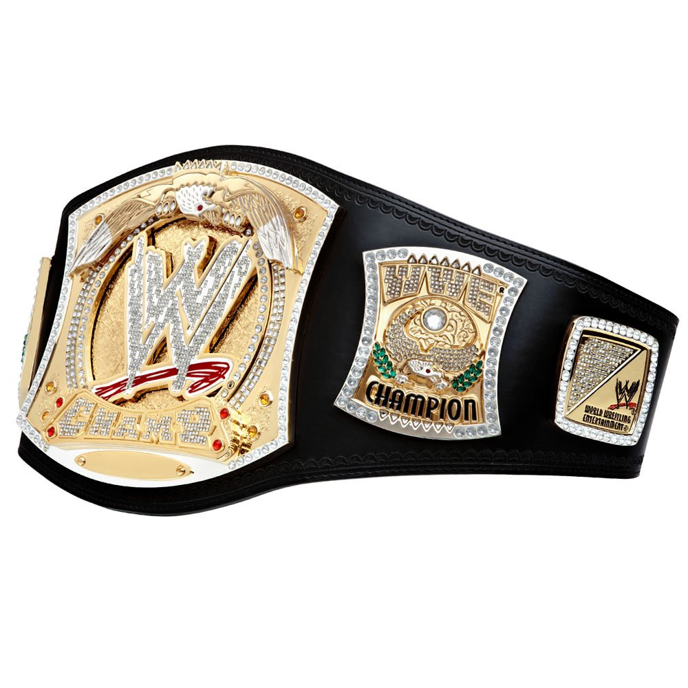 Official WWE Authentic WWE Championship Spinner Replica Title Belt,Multicoloured,One Size by WWE Authentic Wear (Image #2)