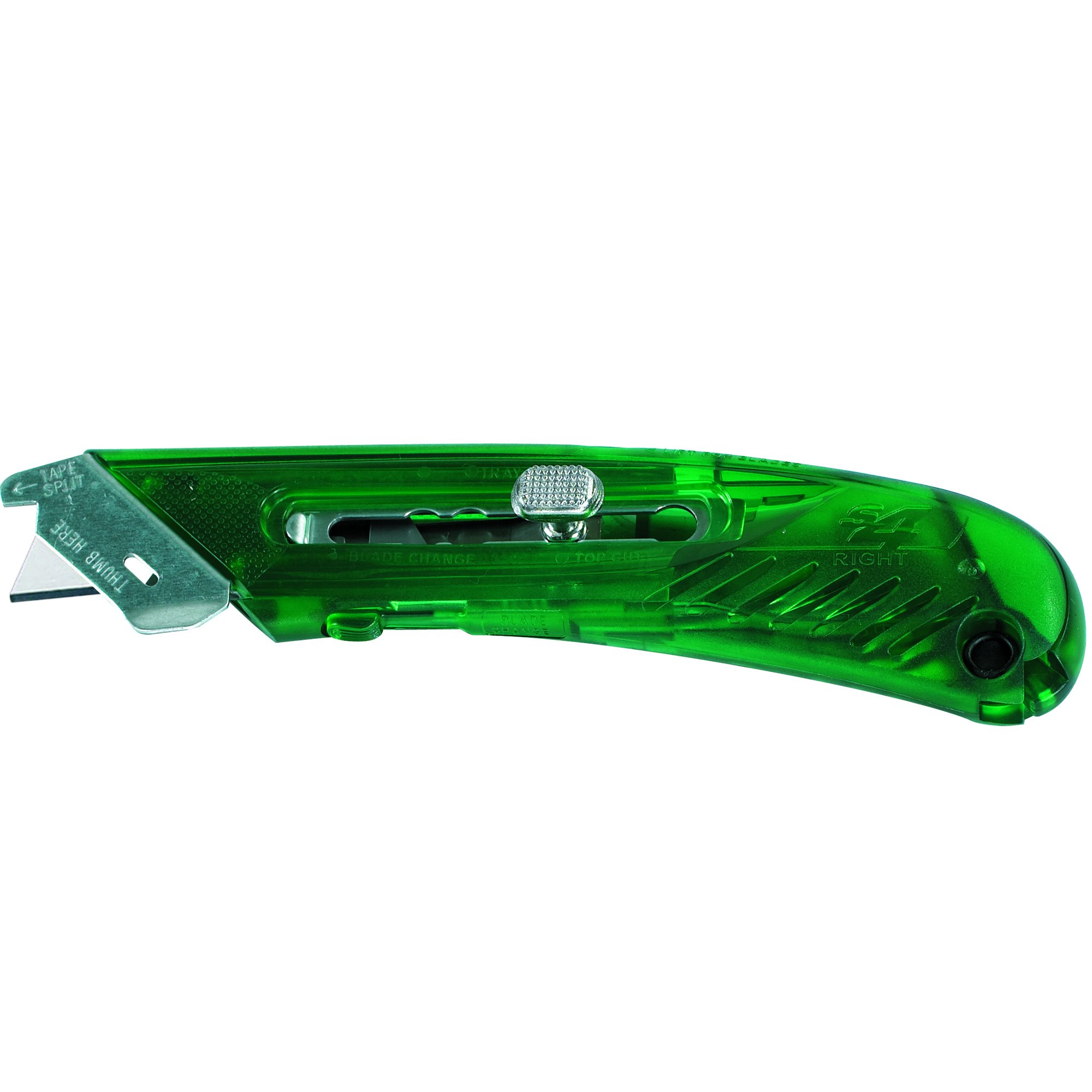 BOX USA BKN116 1 S4 Safety Cutter Utility Knife, Right Handed, Green (Pack of 12)