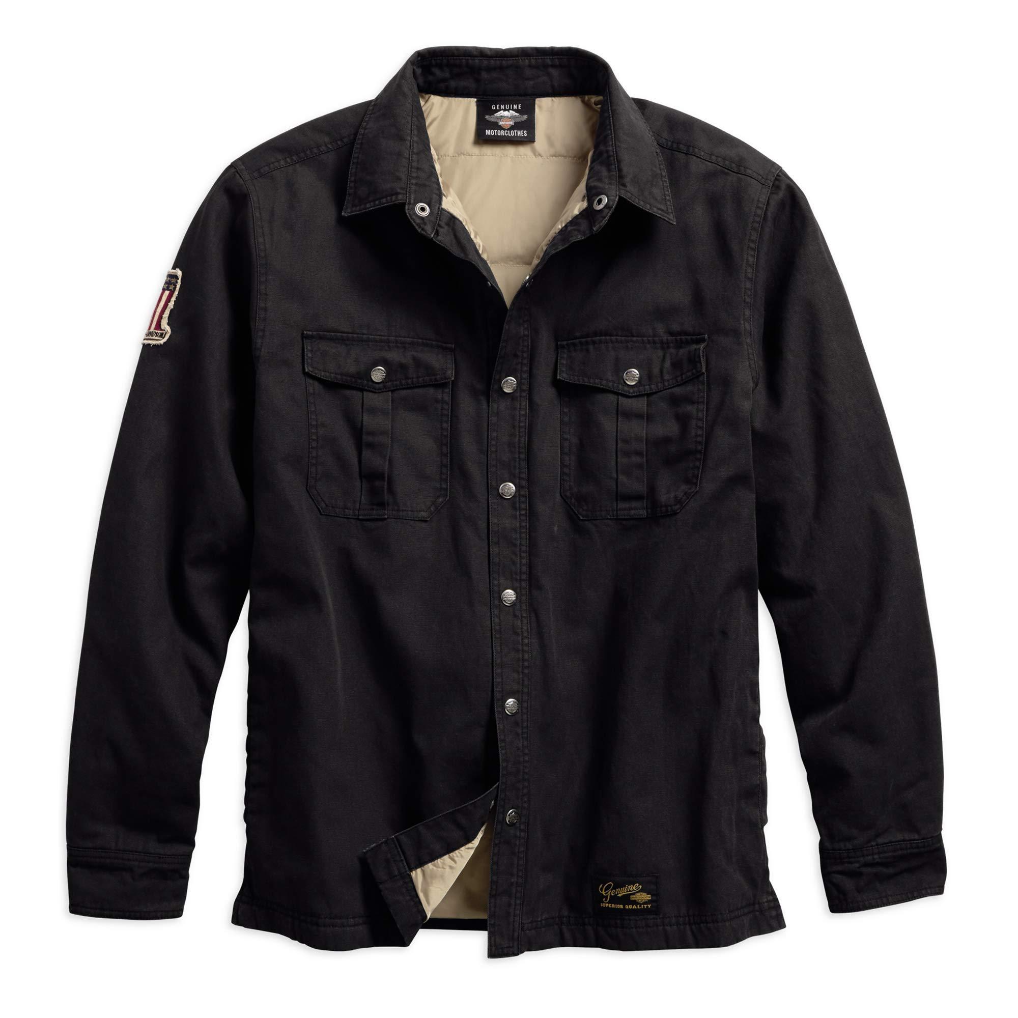HARLEY-DAVIDSON Men's #1 Genuine Classics Shirt Jacket, Black by HARLEY-DAVIDSON