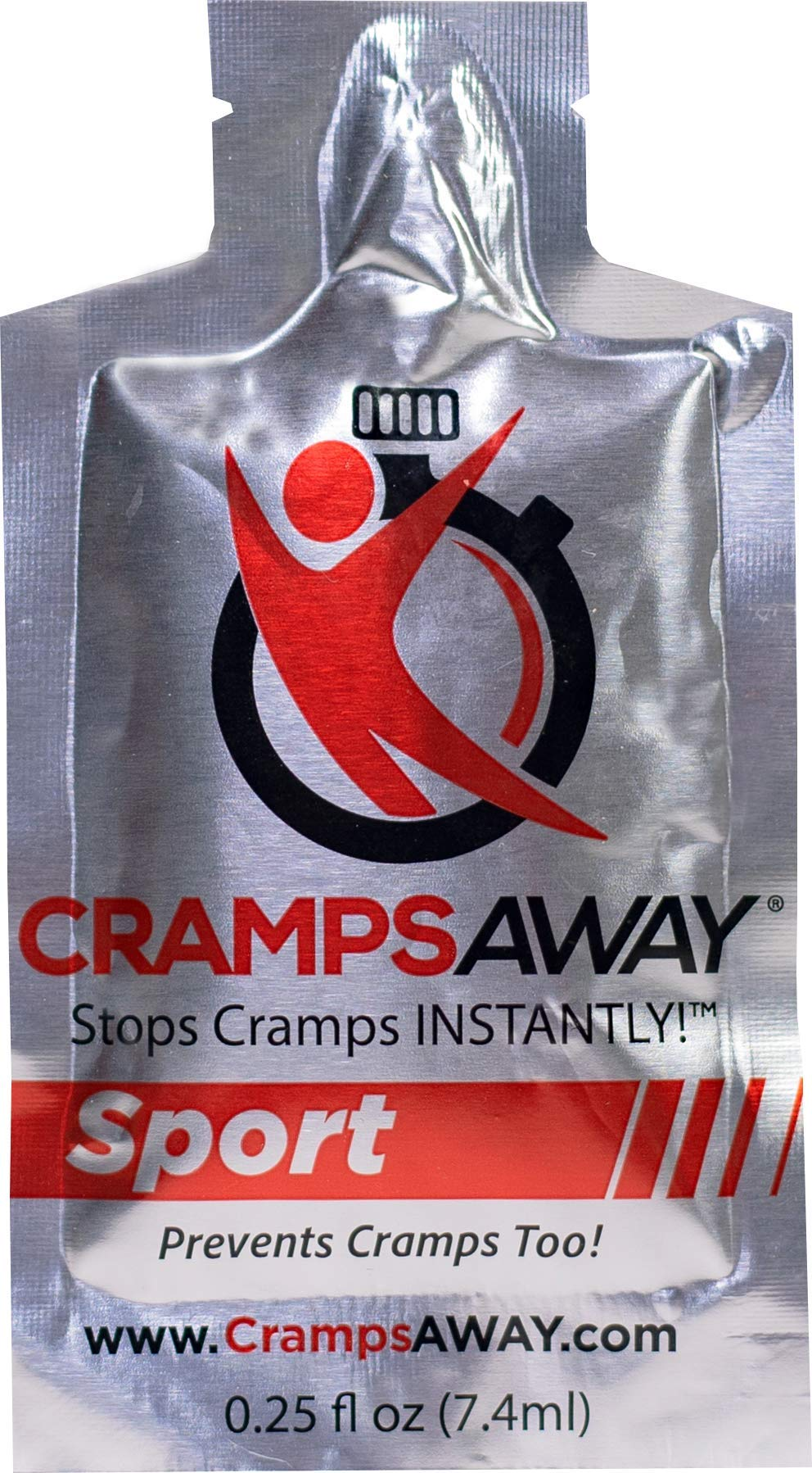 CrampsAWAY Sport - 20 Pack (Best Value) / All Natural, Instant Relief for Muscle Cramps, Including Leg, Foot, Calf, Hand and Night Cramps Too. by CrampsAWAY