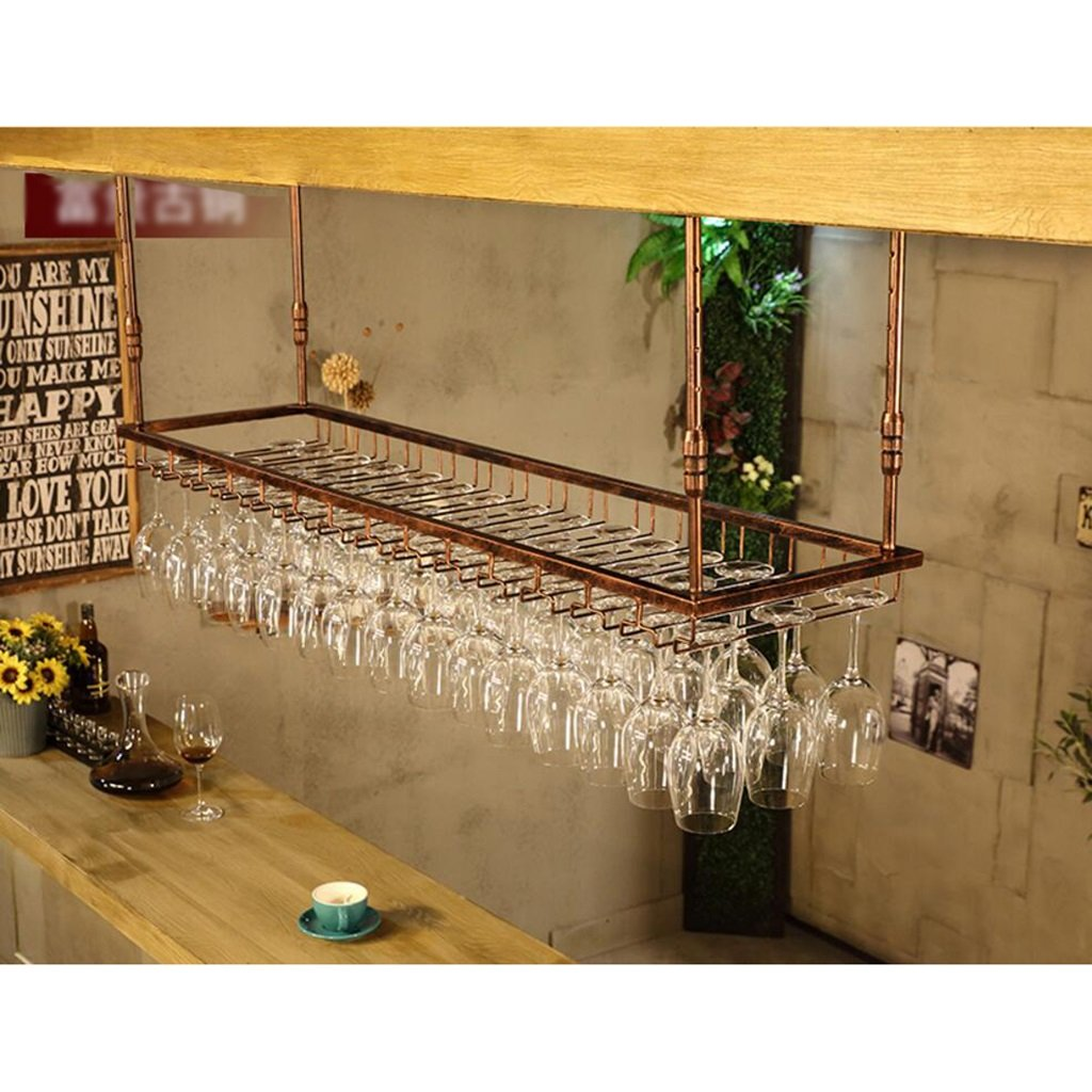 JHGJBJ Iron Retro Industrial Style Bar Restaurante Colgante Titular de la Copa Barra Decoraci/ón de los Estantes de Vino Titular de la Copa de Vino Colgante Titular de la Copa