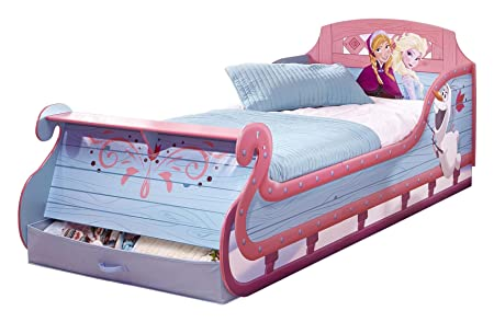 Disney Frozen Frozen Sleigh Single Bed And Underbed Storage By HelloHome