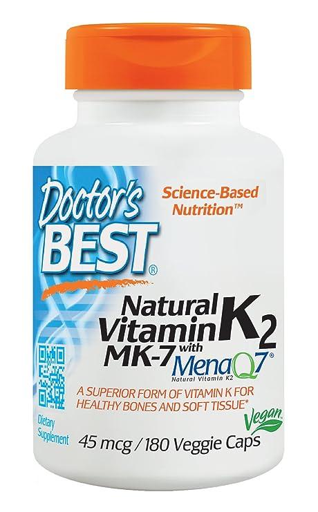 Doctors Best Vitamina Natural K2 Mk7 Con Menaq7, 45Mcg ...