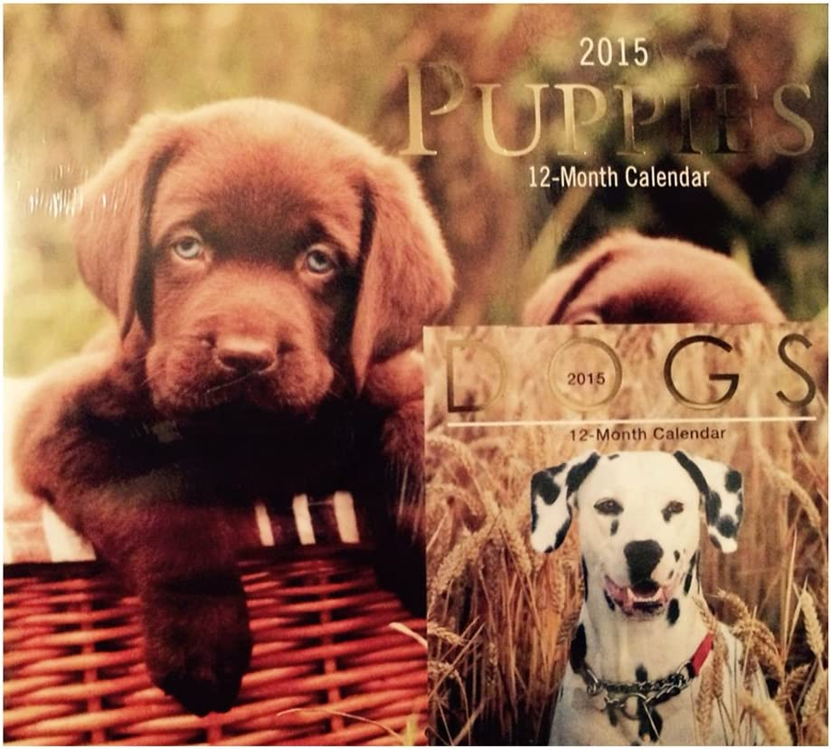 Puppies 2015 Wall Calendar w/ Miniature Dogs Calendar