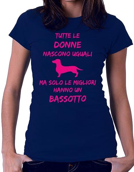 14af70050d2abb Tshirt Tutte Le Donne Nascono Uguali ma Solo Le Migliori Hanno Un Bassotto  - Donne -