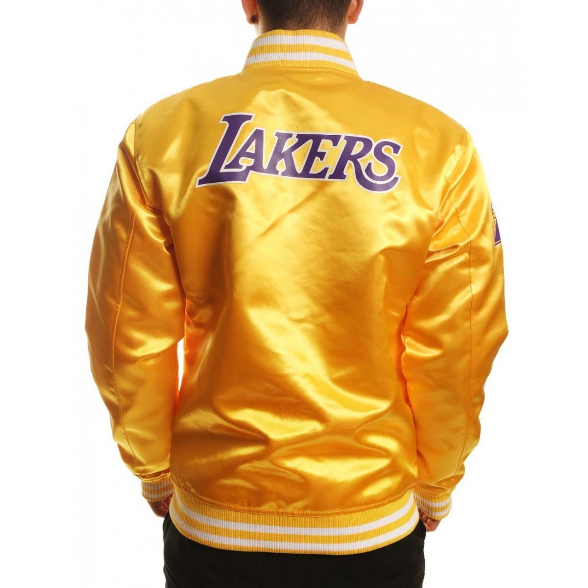 A NEW ERA Era Blouson Tip Off los Angeles Lakers Sateen - Ref. 11530720 Amarillo XXL: Amazon.es: Ropa y accesorios