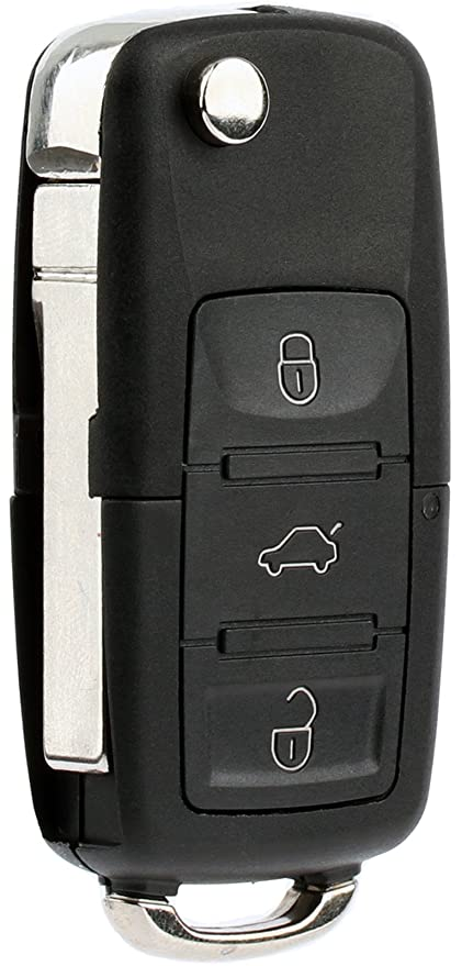 KeylessOption Keyless Entry Remote Control Car Flip Key Fob Replacement for  HLO1J0959753AM, HLO1J0959753DC