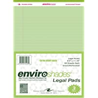 Roaring Spring Enviroshades Legal Pad, 8-1/2 X 11-3/4 in, 50 Sheets, Paper, Green, Pack of 3 - 1465587