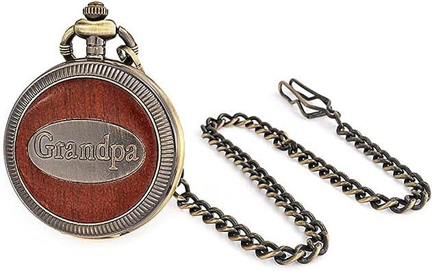 Bling Jewelry plaqué Or Style Antique Grandpa Grand-père Montre de Poche pour Homme Gravure Offerte: Amazon.fr: Bijoux