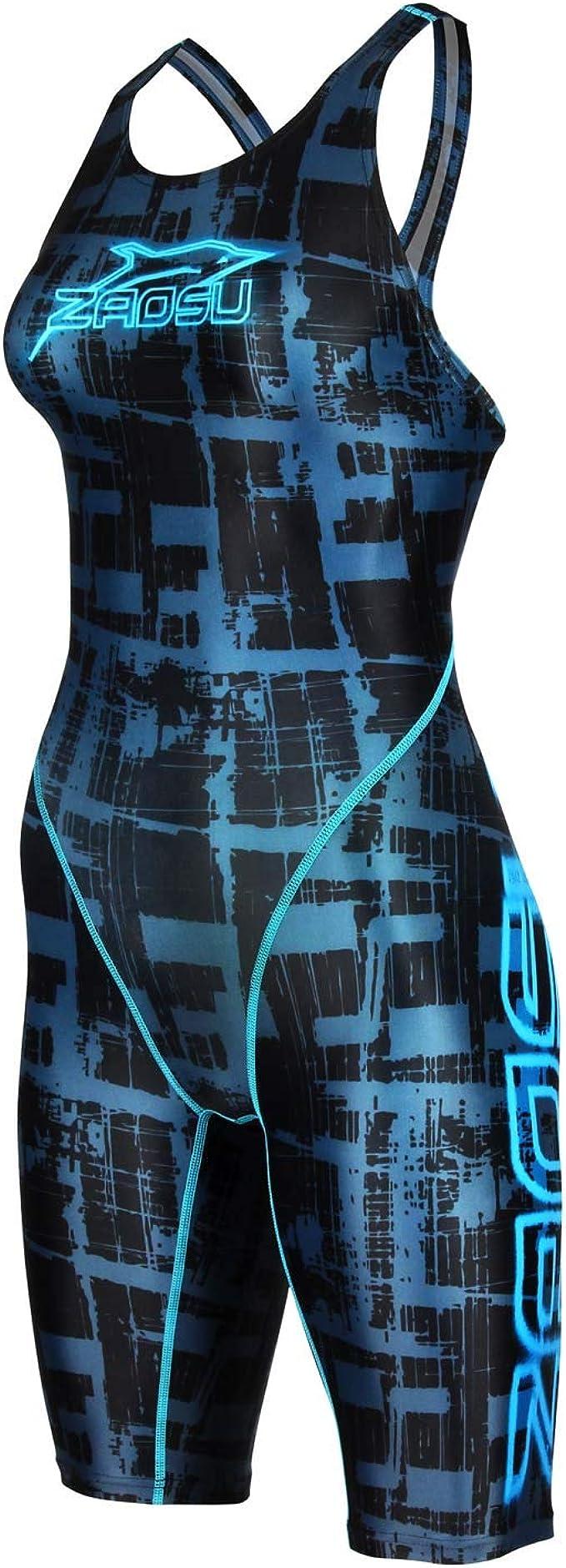 ZAOSU M/ädchen Schwimmanzug Urban Art Sport Badeanzug f/ür das Schwimm Training