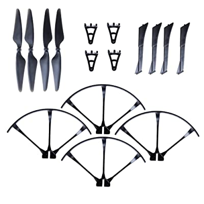 Force1 MJX Bugs 3 Spare Parts F100 and F100 Ghost Crash Pack with 4 Propellers 4 Prop Guards and Full Landing Gear for Quadcopter Drone: Toys & Games