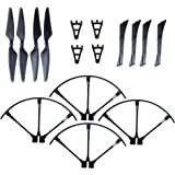 MJX Bugs 3 Spare Parts - Force1 F100 and F100 Ghost Crash Pack with 4 Propellers 4 Prop Guards and Full Landing Gear for Quadcopter Drone
