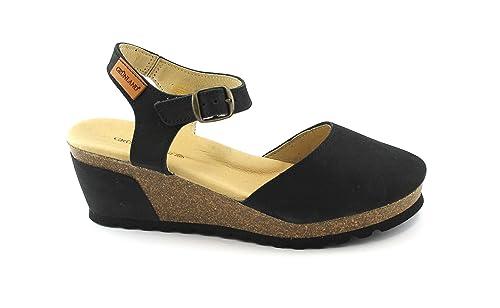 Negras Sb0325 Grunland Zapatos Mujer Cuña Henn Cerrada Sandalias VzSUqGpM