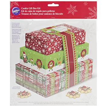 Wilton 415-1828 3-Pack Stacked Cookie Box Kit
