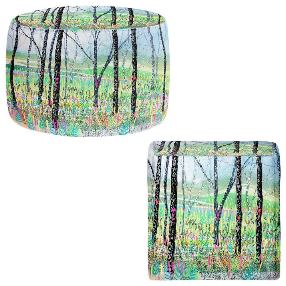 Foot Stools Poufs Chairs Round or Square from DiaNoche Designs by Aja Ann - Love Notes