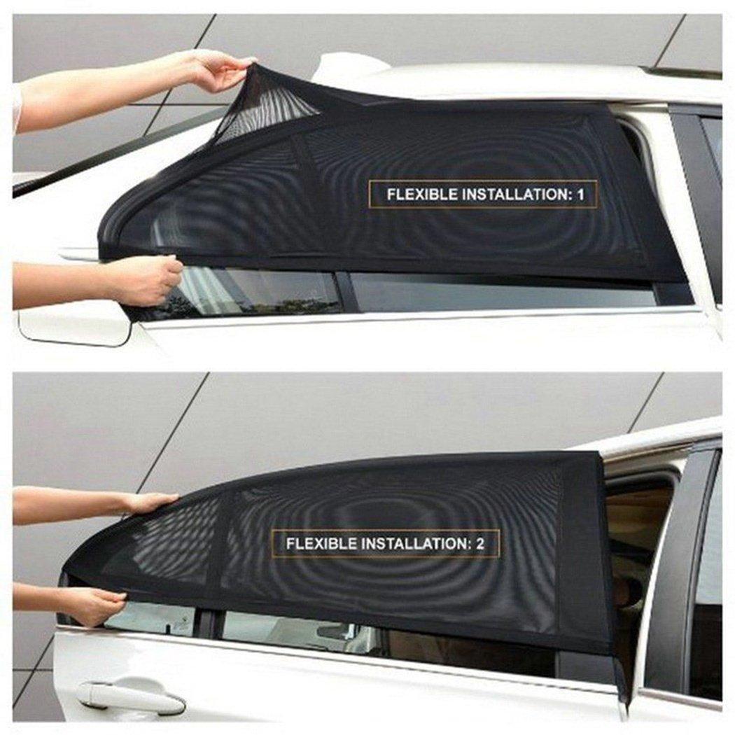 Trucks and SUVs Car Rear Window Sun Shade,FUNOC 2pc Car Side Rear Window Sun Shade Mesh Cover Visor Shield Sunshade UV Protect for Cars