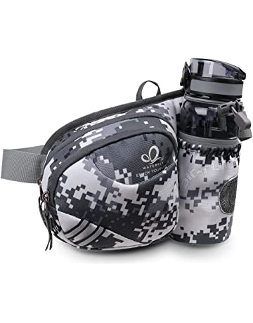 cf5498ad114 Waterfly Hiking Waist Bag Fanny Pack with Water Bottle Holder for Men Women  Running   Dog