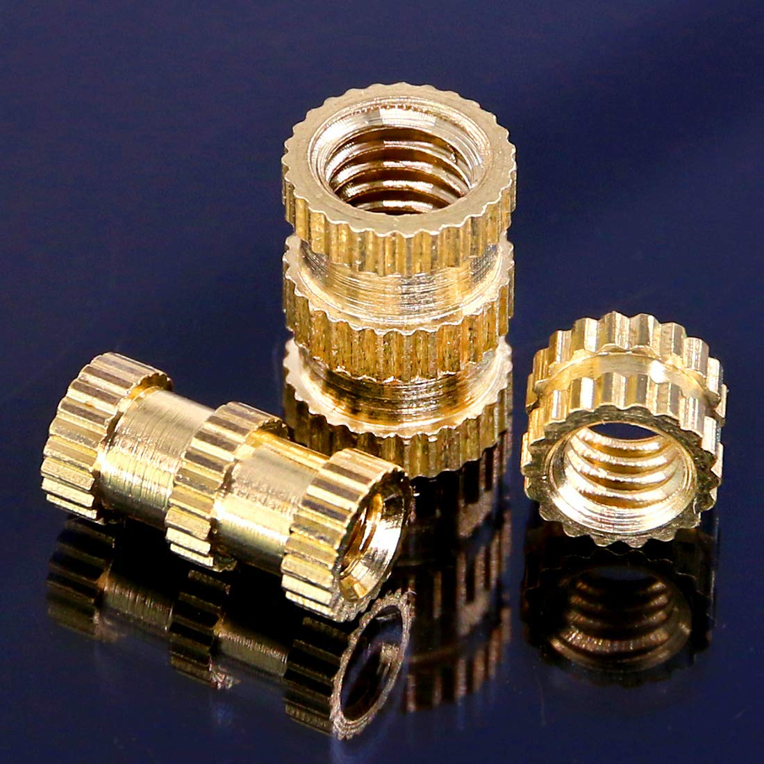 Brass Slip Nut Flat Knurled Nut Brass Brass Nuts Nuts 140 Pieces Project Compatible Installation 3D Printing