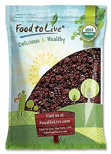 Organic Dried Tart Cherries, 10 Pounds — Lightly Sweetened, Pitted, Non-GMO, Kosher, Unsulfured, Sour, Bulk
